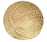 Gold Basketball Metal Chenille Letter Insignia Lapel Pins