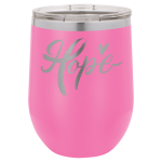 Double Wall Insulated Stainless Steel Stemless Wine Glass -Pink Promotional Give Aways